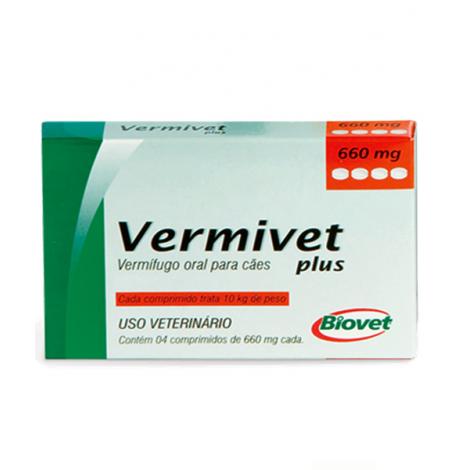 Vermivet plus 660mg – 4 comprimidos