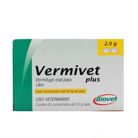 Vermivet plus 2,0mg – 2 comprimidos
