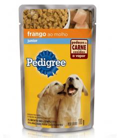 Pedigree Sachê Junior Frango 100g - Caixa com 36 unidades
