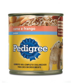 Pedigree lata junior carne e frango patê 280g