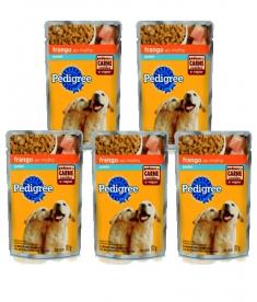 Combo Pedigree Sachê Cães Filhotes Carne 100g - 5 unidades