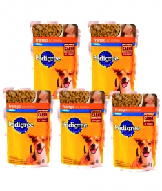 Combo Pedigree Sachê Cães Adultos Frango 100g  - 5 unidades