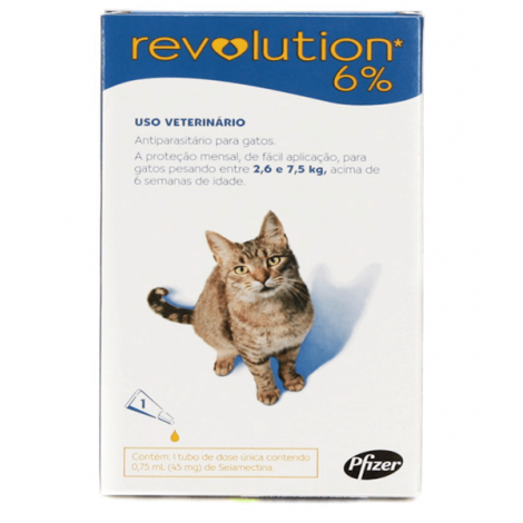 Revolution 6% 0,75ML – Pct com 3 unidades
