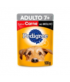 Combo Pedigree Sachê Adultos 7+ Carne 100g - 5 unidades