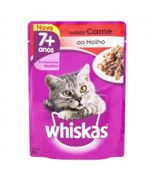 Whiskas Sachê 7+ Carne ao Molho Caixa com 40 un