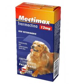 Mectimax 12 MG – 4 Comprimidos