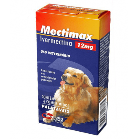 Mectimax 12 MG – 4 Comprimidos