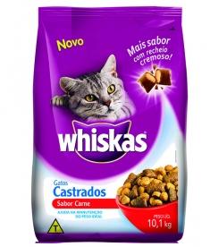 Ração Whiskas para Gato Castrados Carne