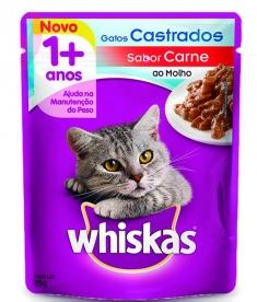 Whiskas  Castrados Sachê Sabor Carne
