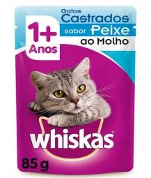Whiskas Castrados Sachê Sabor Peixe - 85gr
