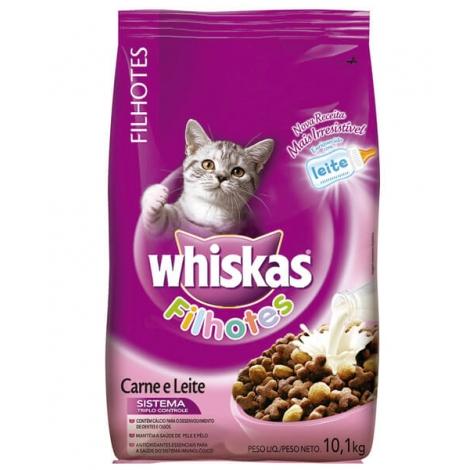 Whiskas Filhote Carne e Leite - 10,1kg