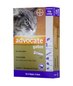 Advocate Gatos  0,8 ml - Gatos de 4 a 8kg