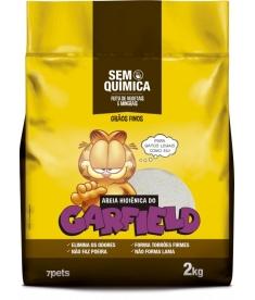 Areia Higiênica Garfield Amarela 2kg