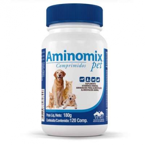 Aminomix Pet Comprimidos - 120 comp