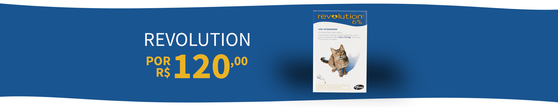 Revolution 6% 3 unidades por R$ 120,00