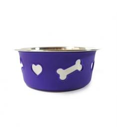 Comedouro Bowl Purple Steel  - Raças Pequenas