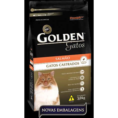 Golden Gatos Castrados Salmão 10kg