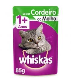 Combo Whiskas Sachê Cordeiro ao Molho 85g - 5 unidades
