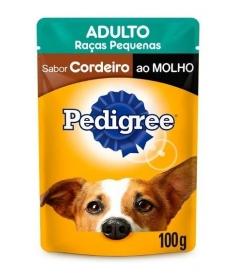 Combo Pedigree Sachê Raças Pequenas Cordeiro 100g - 5 unidades