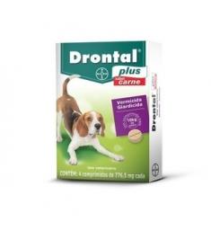 Drontal Plus Carne 4 comprimidos - até 10kg