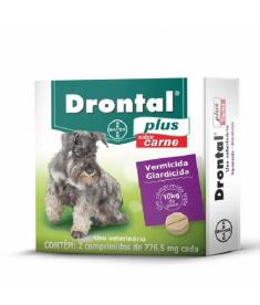 Drontal Plus Carne - 2 comprimidos (até 10kg)