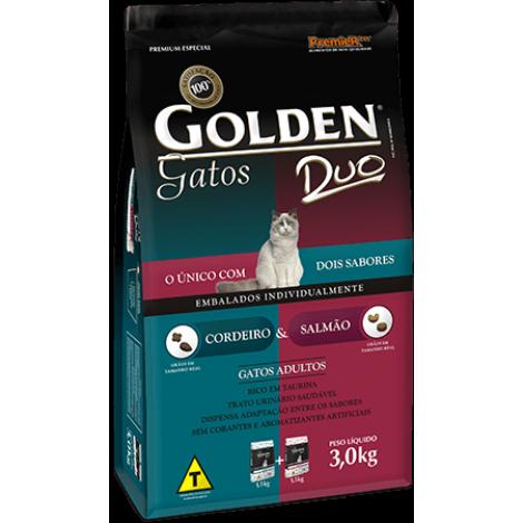 Golden Gatos Adultos Duo Salmão e  Cordeiro 10kg