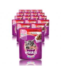 Whiskas Sachê Filhotes Carne ao Molho 85g - Caixa  com 40 unidades