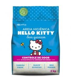 Areia Higiência Hello Kitty  Azul Classica 2kg