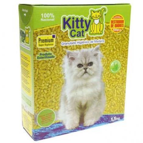 Granulado Higiênico de Madeira Kitty Cat 1,5kg