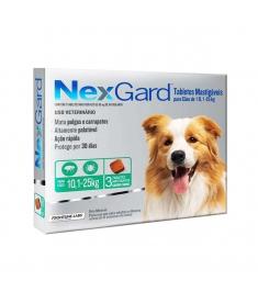 Nexgard para Cães de 10  a 25 kg - 3 Tabletes Mastigáveis