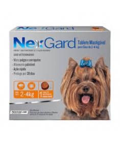 Nexgard para cães de 2 a  4kg  - 3 TableteS Mastigáveis