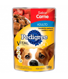 Pedigree Sachê Adulto Carne 100g