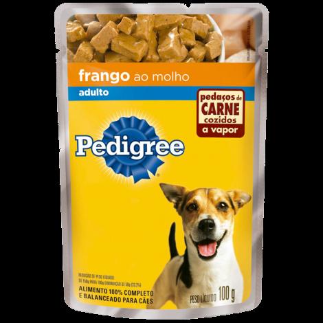 Pedigree Sachê Adulto Frango 100g - Caixa com 36 unidades
