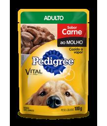 Pedigree Sachê Carne ao Molho M&g 100g - Caixa com 36 unidades