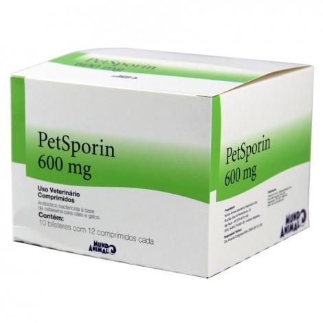 Petsporin 600mg - 12 comprimidos