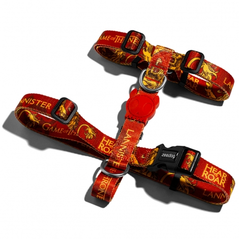 Peitoral H Harness Zeedog Game Of Thrones Lannister PP