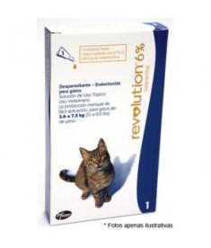 Revolution 6% 0,75ml - Gatos de 2,5 a 7,5kg - 1 unidade
