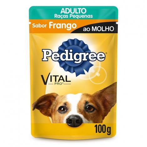 Combo Pedigree Sachê Raças Pequenas Frango 100g - 5 unidades