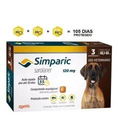 Simparic 120mg - 40 a 60kg - 3 comprimidos