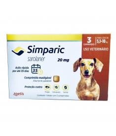 Simparic 20mg  5 a 10kg - 3 comprimidos