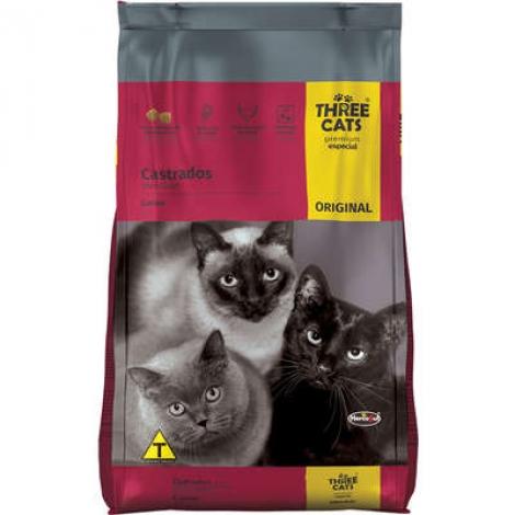 Three Cats Original Adultos Castrados Carne 15kg