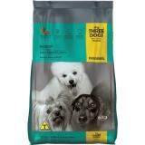 Three Dogs Original Adultos Raças Pequenas Frango, Carne e Arroz 15kg