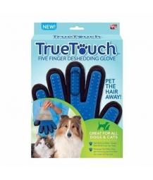 Luva Removedora de Pelos True Touch Azul